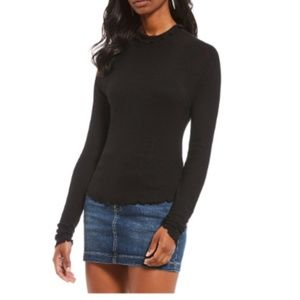 Free People Make It Easy Thermal Sweater Black S